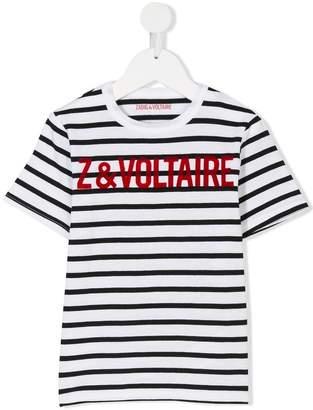 Zadig & Voltaire Kids striped T-shirt