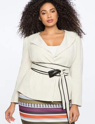 ELOQUII Puff Sleeve Jacket
