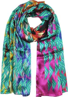 Laura Biagiotti Triangle Printed Twill Silk Stole