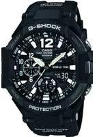 Casio Mens G-Shock Gravitymaster Compass Thermometer Alarm Chronograph Watch GA-1100-1AER