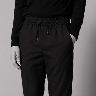 Sandro Relaxed drawstring waist trousers