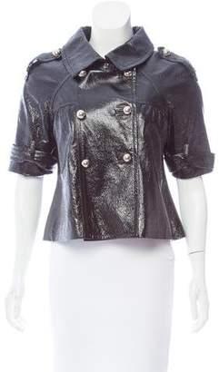 Jocelyn Double-Breasted Leather Jacket