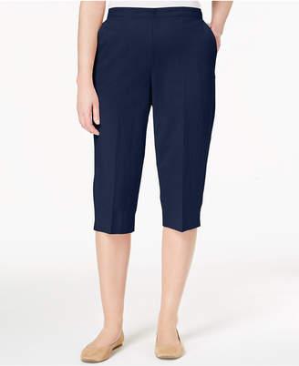 Alfred Dunner Cotton Pull-On Capri Pants