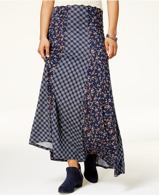 American Rag Juniors' Mixed-Print Maxi Skirt, Only at Macy's $49.50 thestylecure.com