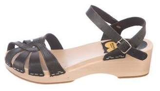 Swedish Hasbeens Leather Cage Sandals