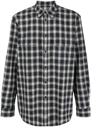 Givenchy plaid curved hem shirt