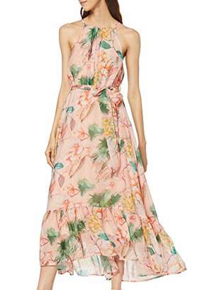 Dorothy Perkins Women's Halter Print Pleat Maxi Dress,(Manufacturer Size:)