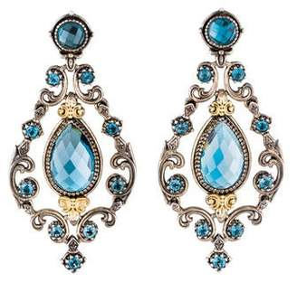Konstantino Blue Topaz Chandelier Earrings