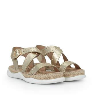 d965236dcc9 White Gold Studded Sandal - ShopStyle