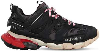 Balenciaga 30mm Track Faux Leather & Mesh Sneakers