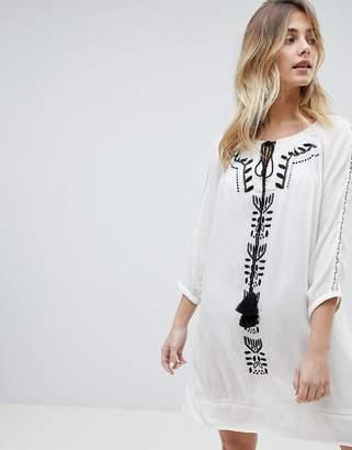 Brave Soul Robina Embroidred Tunic Dress