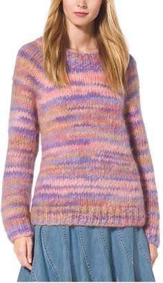 Michael Kors Space-Dyed Mohair Crewneck Sweater