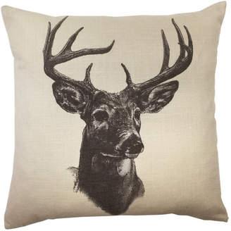 """Hiend Accents 18""""x18"""" Whitetail Deer Linen Print Pillow"""