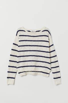 H&M Slub-knit Sweater - White
