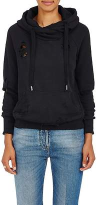 NSF Women's Distressed Cotton Terry Hoodie