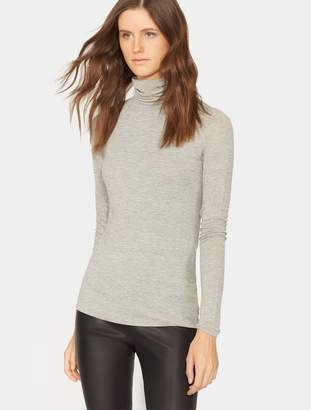 Halston Long Sleeve Turtleneck Slim Tee
