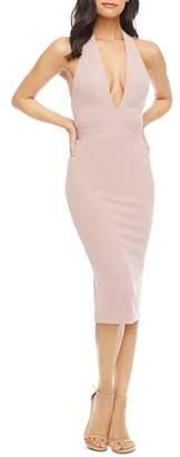 Dress the Population Halter-Neck Midi Dress