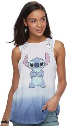 Disney Disney's Lilo & Stitch Juniors' Lace-Up Ombre Tank