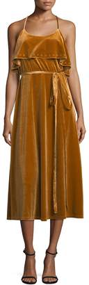 Allison Collection Women's Ruffle Slip Dress