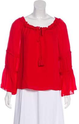 Ramy Brook Ruffle-Accented Long Sleeve Top