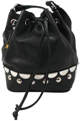 Diesel Black Gold Black Leather Handbag