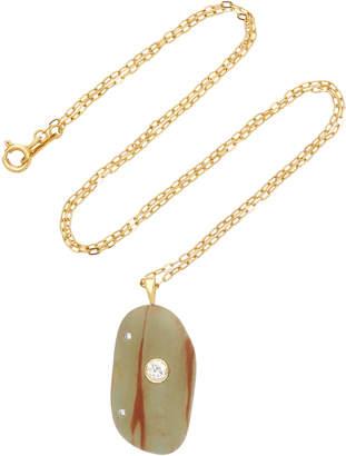 Cvc Stones Cesna 18K Gold Beach Stone and Diamond Necklace