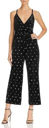 Aqua Star-Embroidered Velvet Jumpsuit - 100% Exclusive