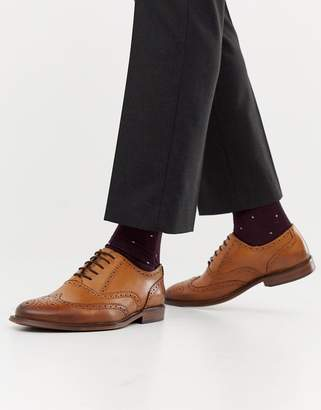 Office Interface brogues in tan leather
