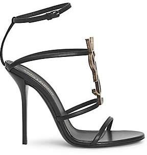Saint Laurent Women's Cassandra Ankle-Strap Sandals
