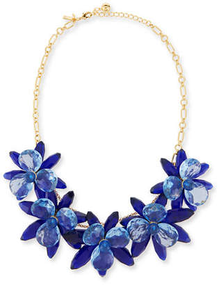 Kate Spade New York Crystal Flower Statement Necklace $298 thestylecure.com