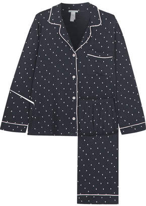 Eberjey Printed Stretch-jersey Pajama Set - Navy