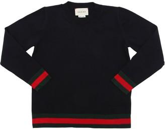 Gucci Web Cotton Knit Sweater