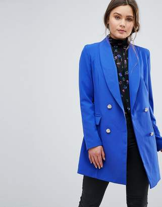 boohoo Longline Double Breasted Blazer