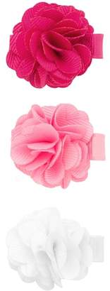 PLH Bows Set of 3 Flower Hair Clips
