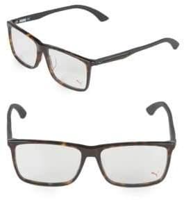 Puma 57MM Square Tortoiseshell Optical Frames