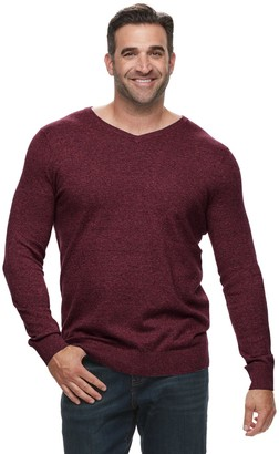 Croft & Barrow Big & Tall Classic-Fit 12GG V-Neck Sweater