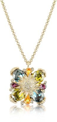 A-Z Collection Gold-plated Flower Drop Necklace