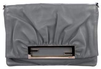 Fendi Leather Flap Clutch