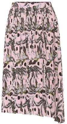 Kenzo Printed asymmetric midi skirt