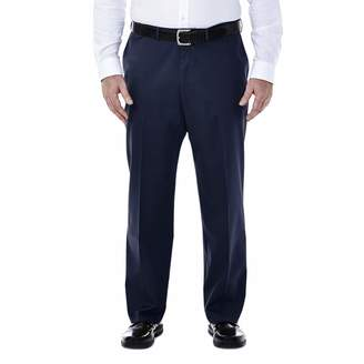 Haggar Men's Big and Tall Premium No Iron Classic Fit Expandable Waist Plain Front Pant