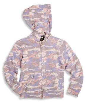 Monrow Girl's Camouflage Hoodie