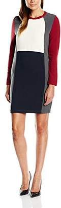 Almost Famous Women's Colour Block Column Long Sleeve Dress