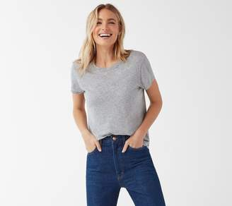 Splendid Crew-Neck Tee with Rounded Hem