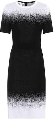 Oscar de la Renta Knitted wool-blend dress