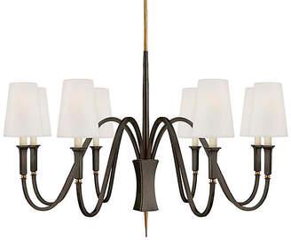 Visual Comfort & Co. Delphia Medium Chandelier - Bronze/Antiqued Brass