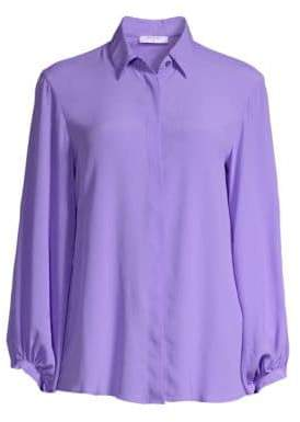 Beatrice. B Silk-Blend Button-Front Blouse