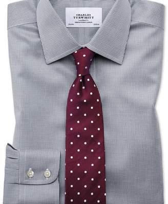 Charles Tyrwhitt Classic fit non-iron puppytooth dark grey shirt
