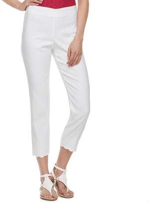 Elle Women's Pull-On Ankle Dress Pants
