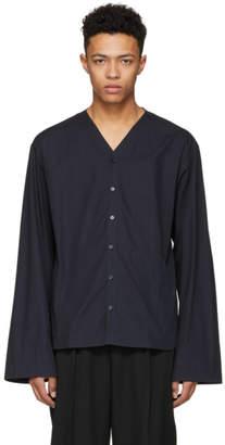 Lemaire Navy V-Neck Shirt