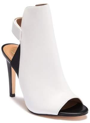 Calvin Klein Sandria Leather Peep Toe Sandal